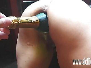 Extreme giant anal bottle..