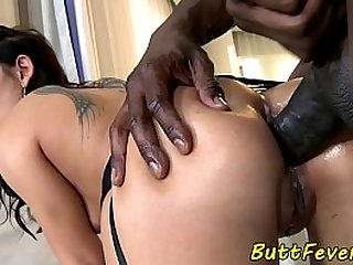 Assfucked beauty enjoys..
