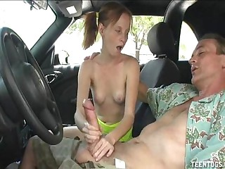 Horny Teen Babe Handjob In..