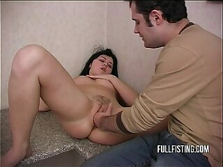 Pretty Sweet Russian Teen Pussy Fisting Pleasure