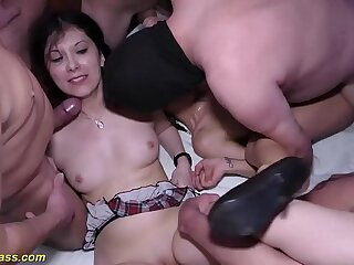 extreme bukkake groupsex party orgy