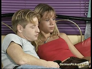 young german couple pickup