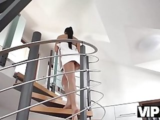 VIP4K. Old and young sex session of brunette coquette and old man