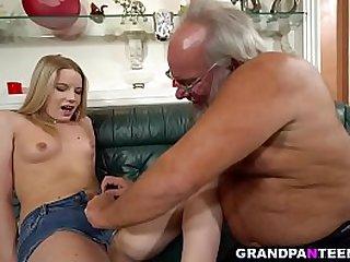 Naughty grandpa Albert fucks..