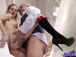 Blonde schoolgirl pounded by..