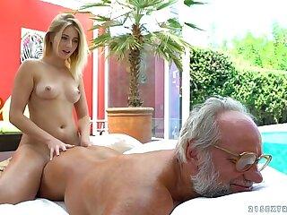 Aria Logan and her much older friend - Grandpas Fuck Teens
