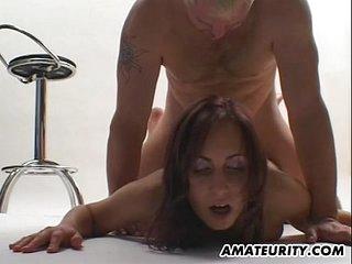 Busty amateur girlfriend..