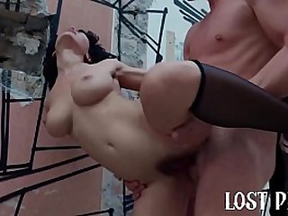 Horny Teen Outdoor Rough Sex..