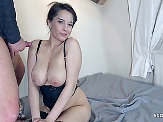 GERMAN SCOUT - BIG FLOPPY TITS GIRL SEDUCE TO SEX AT FAKE MODEL JOB FOR MONEY