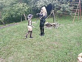 Mistress horse training big titted living latex sexdoll pt2 HD