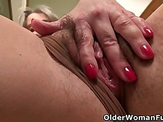 Lustful mature Kelli takes off her clothes and plays with her hairy old cunt (now available in Full HD 1080P). Bonus video: USA mature Vanessa Jones.