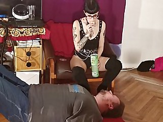 Young Mistress feeding slave with chewed food pt2 HD