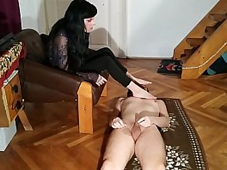 Sexy domina cock tease her stepbrother and get foot worshipped part 1 HD