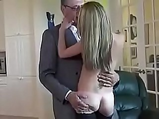 A old man fucking a young girl